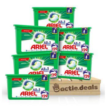 Ariel 3-in-1 Pods Original - halfjaarbox 210 wasbeurten