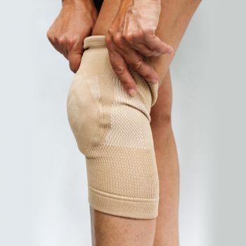 Bamboe kniebandage met gelkussen (man) - 1 stuk