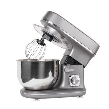 Keukenmachine 1300W Grijs - Mixen, kneden en kloppen