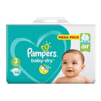 Pampers Baby Dry Luiers - Maat 3 - 6 tot 10kg (100 stuks)