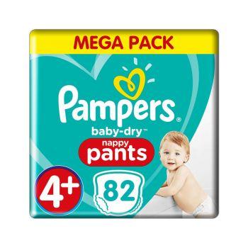 Pampers Baby Dry Pants - Maat 4+ - 9 tot 15 kg (82 stuks)