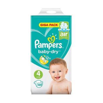 Pampers Baby Dry Luiers - Maat 4 - 9 tot 14 kg (120 stuks)