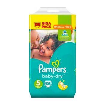 Pampers Baby Dry Luiers - Maat 5 - 11 tot 16kg (108 stuks)