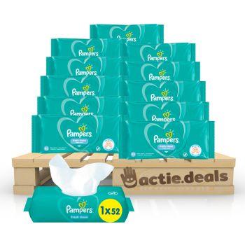 Voordeelpakket Pampers Fresh Clean Baby doekjes (624 stuks)