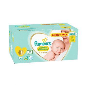 Pampers Premium Protection Luiers - Maat 1 - 2 tot 5kg (96 stuks)