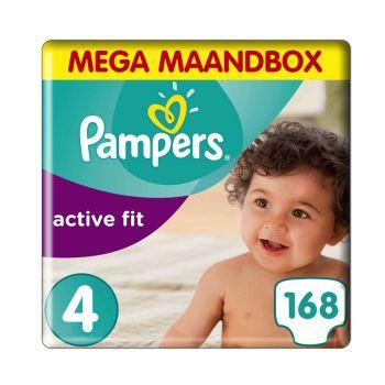Pampers Active Fit Luiers - Maat 4 - 7 tot 18 kg (168 stuks)