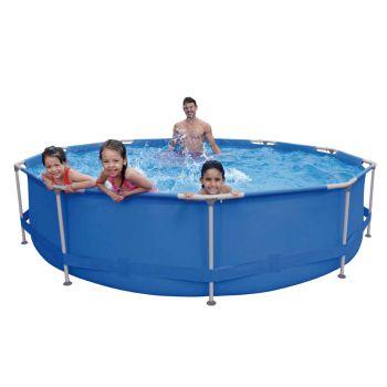 Zwembad met RVS frame Ø 360cm