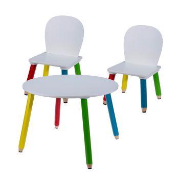 Kindertafel set met 2 stoeltjes