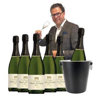 Bubbels pakket - Mousserende wijn Marquis de Sallanges - Met gratis champagnekoeler
