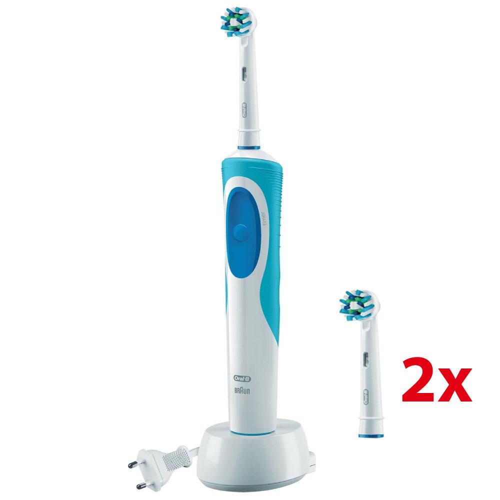 Dagaanbieding - Oral-B Vitality CrossAction Elektrische Tandenborstel + 2 gratis borstels dagelijkse koopjes
