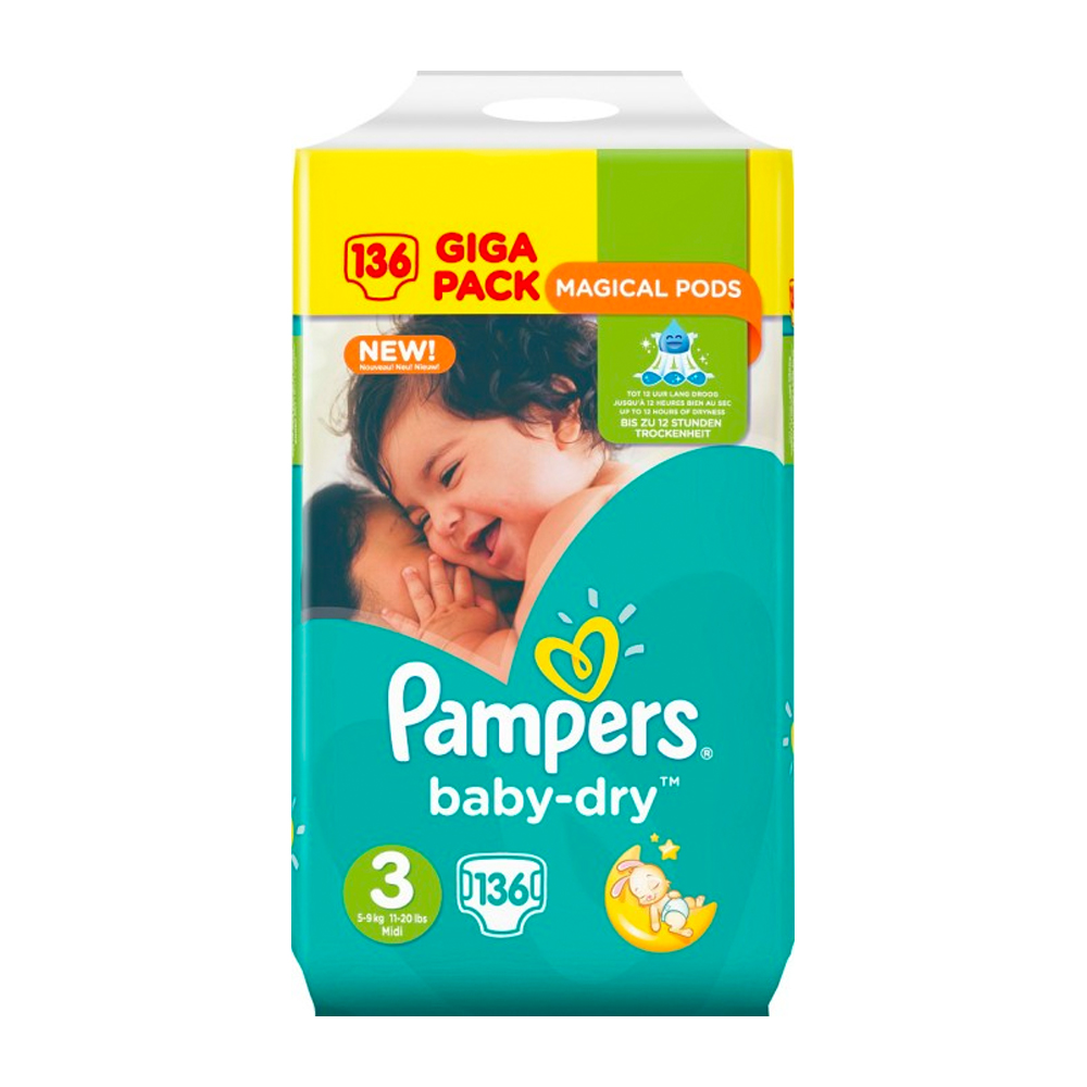 Dagaanbieding - Pampers Baby Dry Luiers - Maat 3 - 6 tot 10kg dagelijkse koopjes