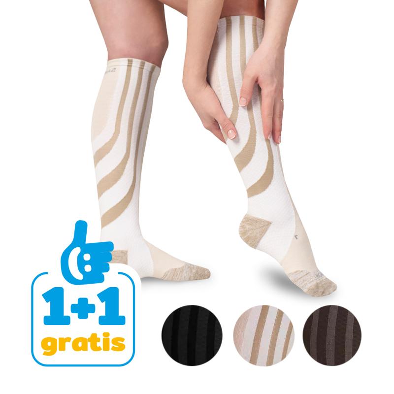 Sankom Compressiekousen - Verbetert de doorbloeding in de benen